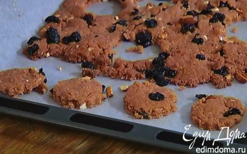 Рецепт Печенье с миндалем и вишней