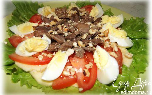 Рецепт Салат с куриными желудочками