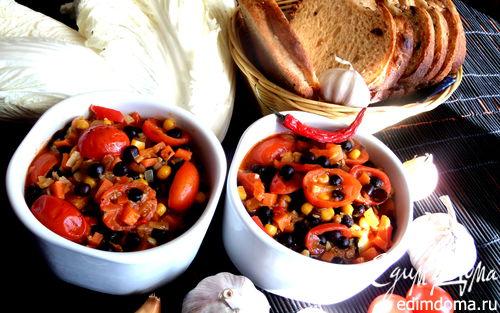 Рецепт Вегетарианский чили Chili Con Carnе (латышская версия)