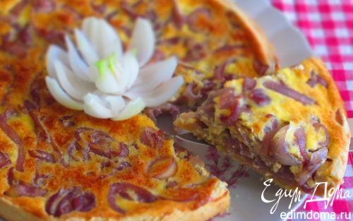 Рецепт Киш с карамелизированным луком
