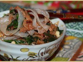 Лапша ширатаки со шпинатом