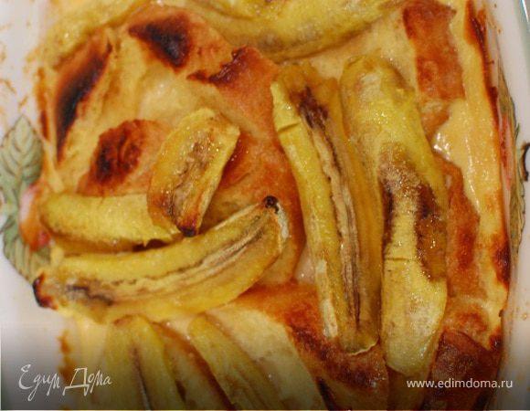 Французские гренки с бананами и карамельным соусом