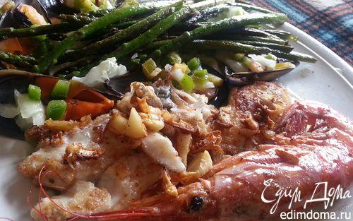 Рецепт Теплый морской овощной салат
