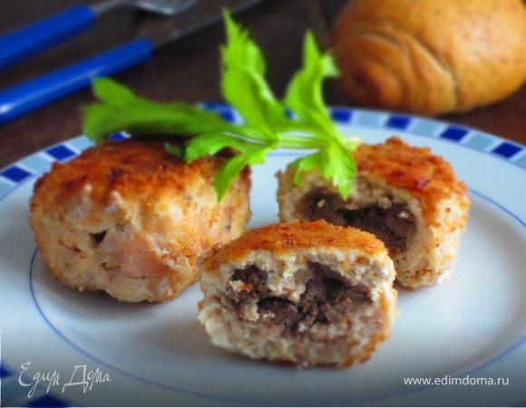 Зразы с куриной печенью и орехами