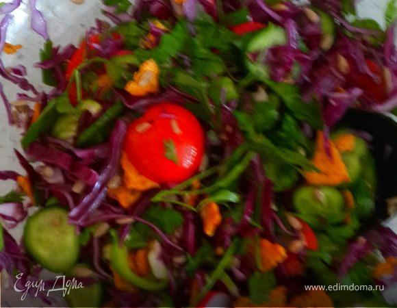 Весенний салат в пост