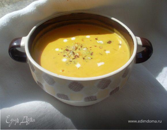 Крем-суп из тыквы с лесным орехом