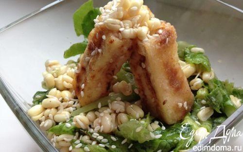 Рецепт Салат с ростками маша и жареным тофу