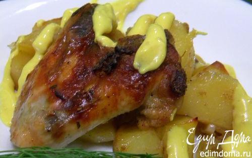Рецепт Ароматные крылышки с картошкой