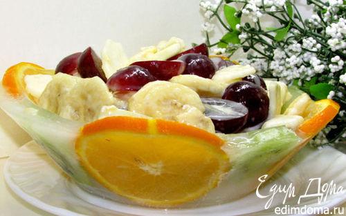 Рецепт Кубинский фруктовый салат в ледяной чаше