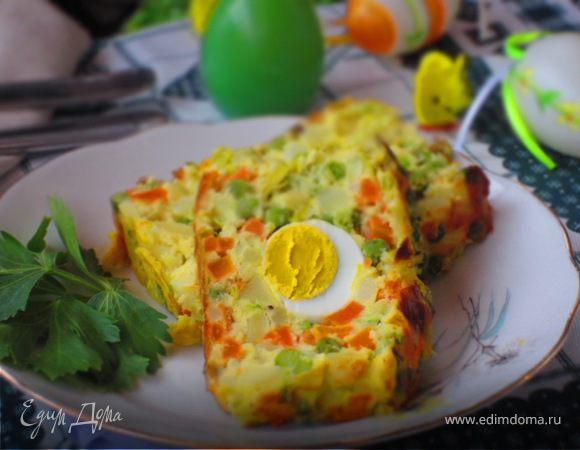 Овощной террин с яйцом