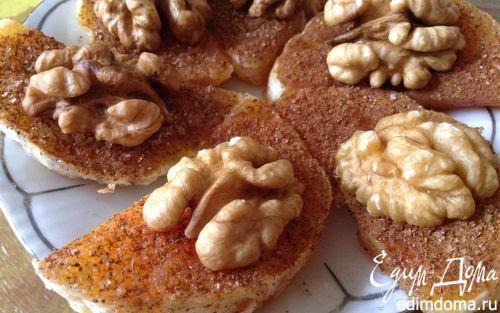 Рецепт Апельсины с корицей и грецкими орехами