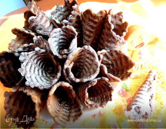 Вафли шоколадные с кокосовой стружкой