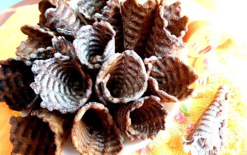 Рецепт Вафли шоколадные с кокосовой стружкой в вафельнице