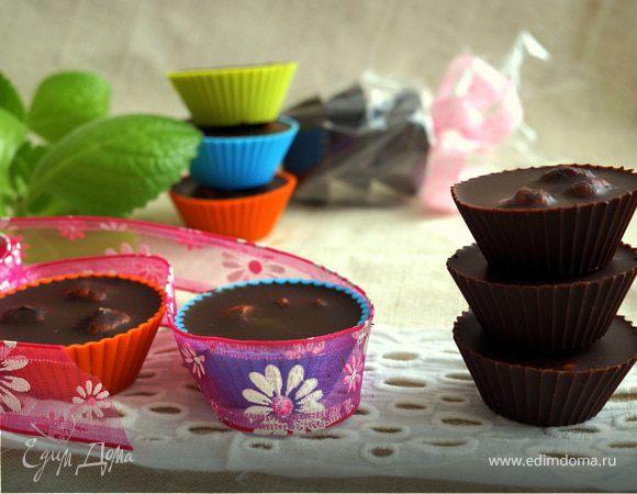 Натуральный черный шоколад из тертого какао