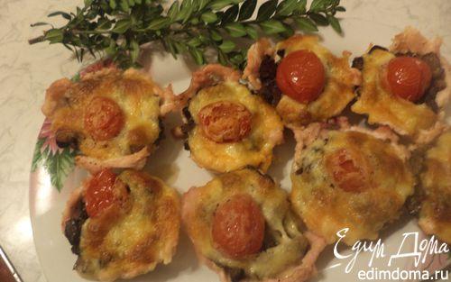 Рецепт Кексы из куриного филе с шампиньонами и сулугуни