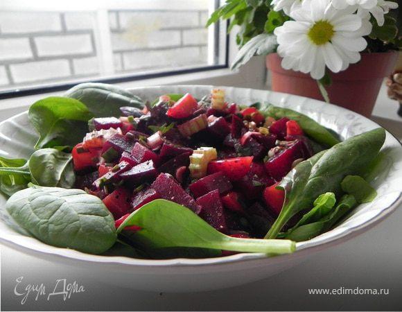 Салат из свеклы с клубникой