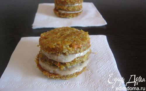 Рецепт Морковное печенье с заварным ореховым кремом