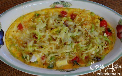 Рецепт Фриттата со спаржей, помидорами и фетой