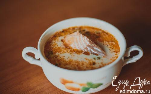 Рецепт Сливочный суп из семги