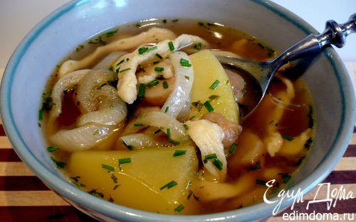 Рецепт Швабский суп с домашними шпецле (Gaisburger Marsch)