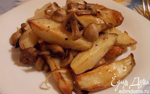 Рецепт Румяная картошечка с грибами