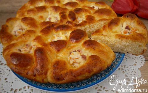 Рецепт Пирог из картофельного теста с творогом и беконом
