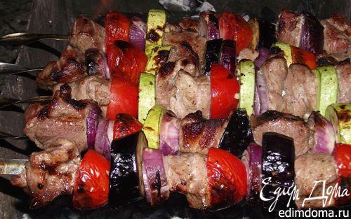 Рецепт Шашлык из свинины с овощами в луковом маринаде