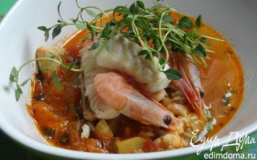 Рецепт Королевский рыбный суп Буйабес (Bouillabaisse)