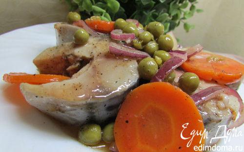Рецепт Маринованная скумбрия с овощами