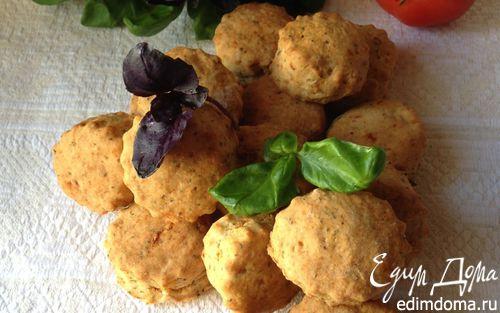 Рецепт Печенье с вялеными помидорами и базиликом
