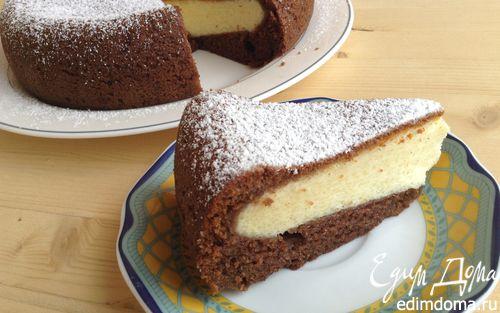 Рецепт Шоколадно-творожный пирог в мультиварке