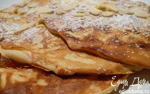 Рецепт Яблочные блины с миндалем и корицей