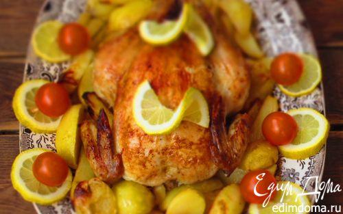Рецепт Курица, фаршированная лимонами