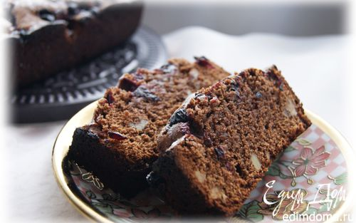 Рецепт Шоколадно-гречишный кекс с черной смородиной и грецким орехом