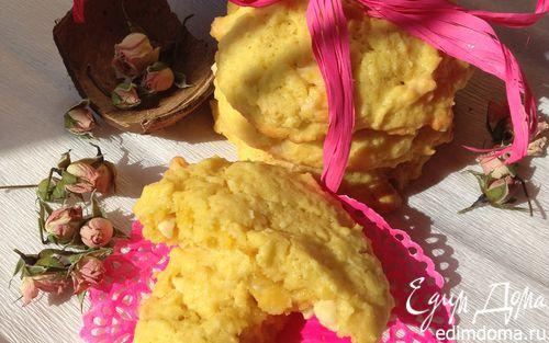 Рецепт Кокосовое печенье с белым шоколадом