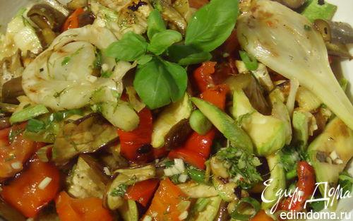 """Рецепт Гриль-салат """"Летние овощи"""""""