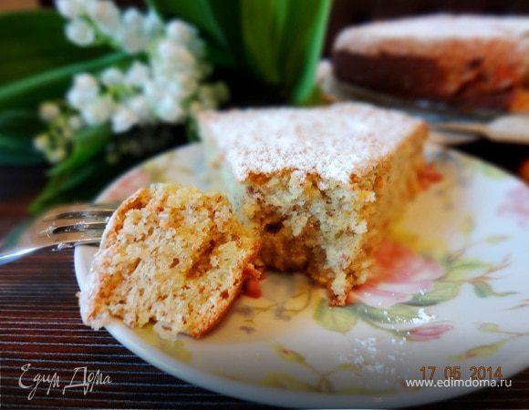Нежный ореховый пирог с лаймом и кокосом