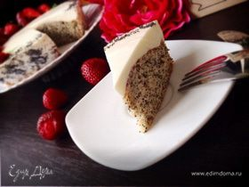 Нежный маково-ореховый пирог