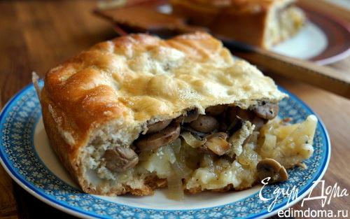 Рецепт Монастырский грибной пирог