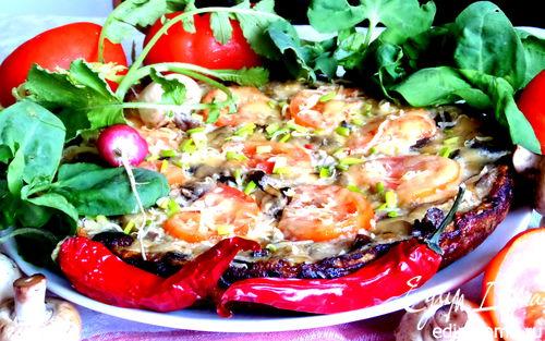 Рецепт Фриттата из баклажанов с грибами