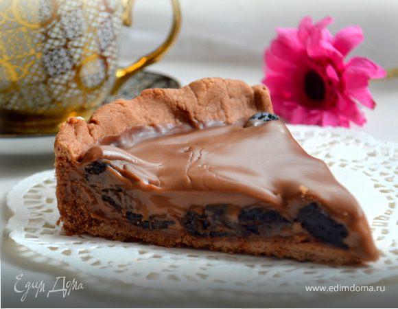Тарт с черносливом и нежнейшим шоколадным ганашем