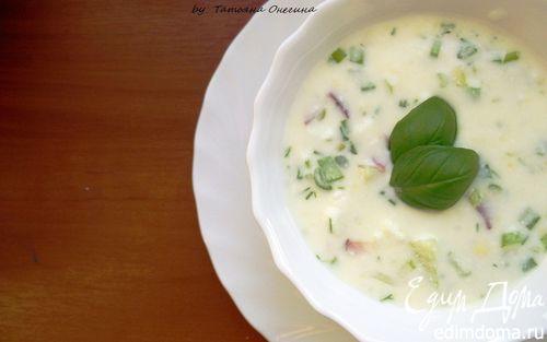 Рецепт Окрошка на кефире - легкий холодный суп