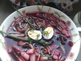 Холодный суп на свекольном квасе