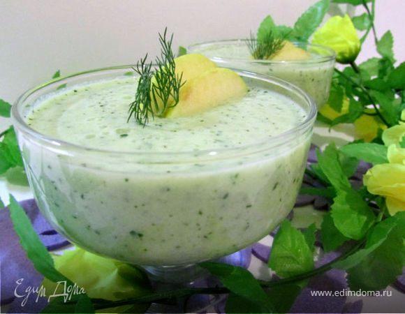 """Холодный суп-пюре """"Зеленый микс"""""""