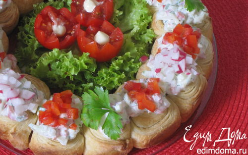 Рецепт Венок с овощами