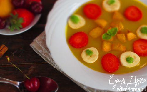 Рецепт Фруктово-ягодный холодный суп