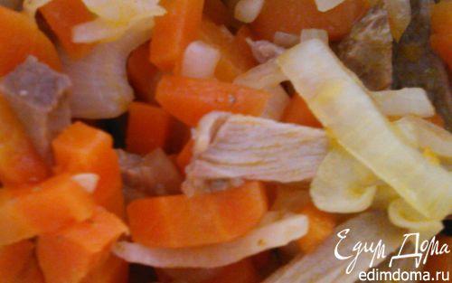 """Рецепт Салат с говядиной и морковью """"Ом-ном-ном"""""""