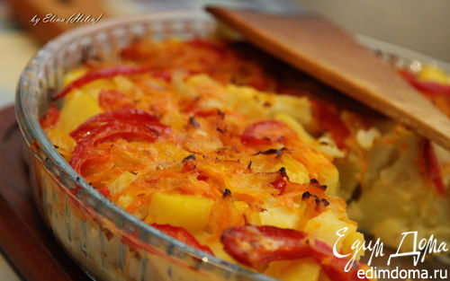 Рецепт Овощная запеканка из цветной капусты и картофеля