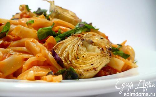 Рецепт Тальятелле с артишоками в томатном соусе