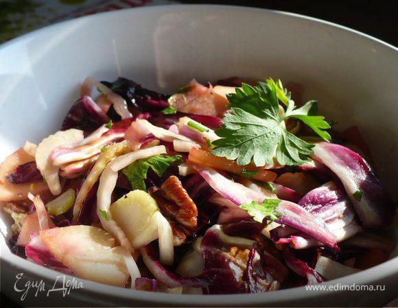 Теплый салат с радиккио и фенхелем